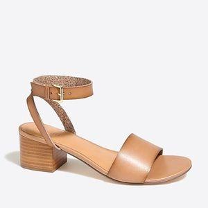 J.crew factory block heel sandals